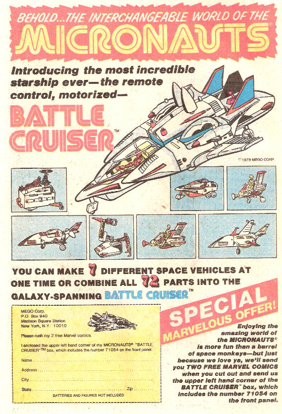 COMICAD micronauts battle cruiser